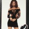 Leg Avenue Shredded Reversible Mini Dress- Regular One Size 11-1302X