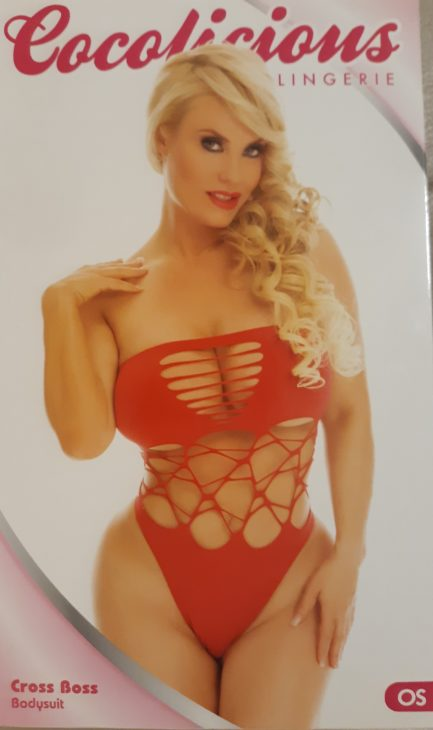 Cocolicious Cross Boss Bodysuit- One Size- Red 35006-RED OS