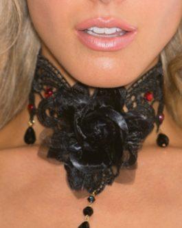 Shirley Of Hollywood Black Rose Choker