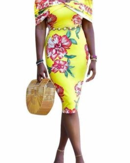Yellow Floral Sundress- Small