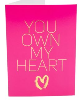 Kama Sutra Naughty Notes Greeting Cards- You Own My Heart…..