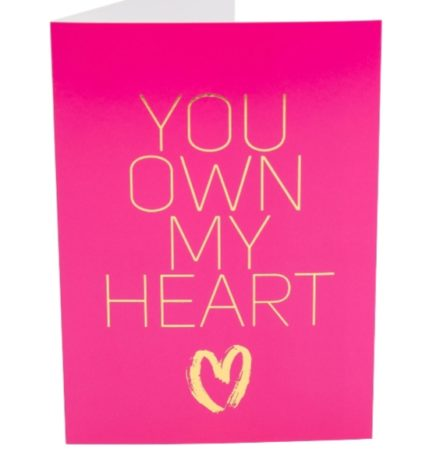 Kama Sutra Naughty Notes Greeting Cards- You Own My Heart..... KSNN-14002