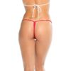 KOY By Bodyshotz Low Back Tee Thong- Red- O/S BS100-NYLW