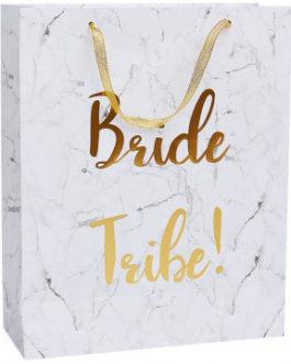 Bride Tribe Gift Bag- White & Gold