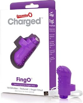 Screaming O- Charged Fingo Rechargeable Finger Vibe- Purple