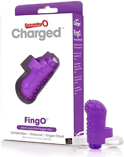 Screaming O- Charged Fingo Rechargeable Finger Vibe- Purple AFNG-PU-101
