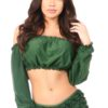 Green Glitter Wrap Skirt DASACC-408