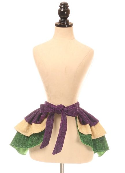 Mardi Gras Glitter Wrap Skirt DASACC-417