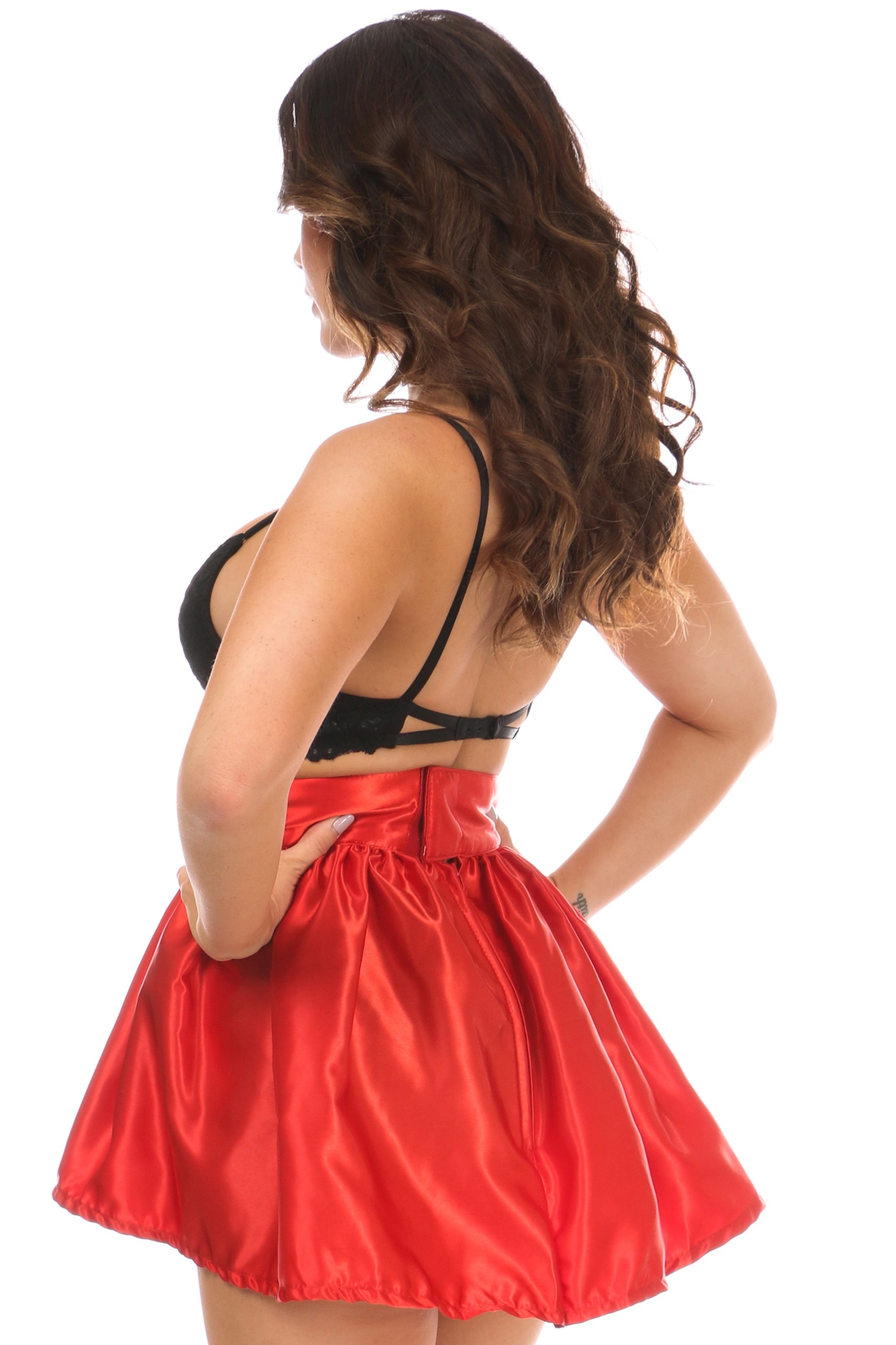 Red Satin Skirt DASACC-512