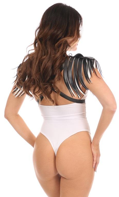 Vegan Leather Body Harness w/Fringe DASHAR-172