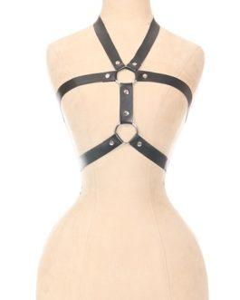Matte Black Vegan Leather Body Harness