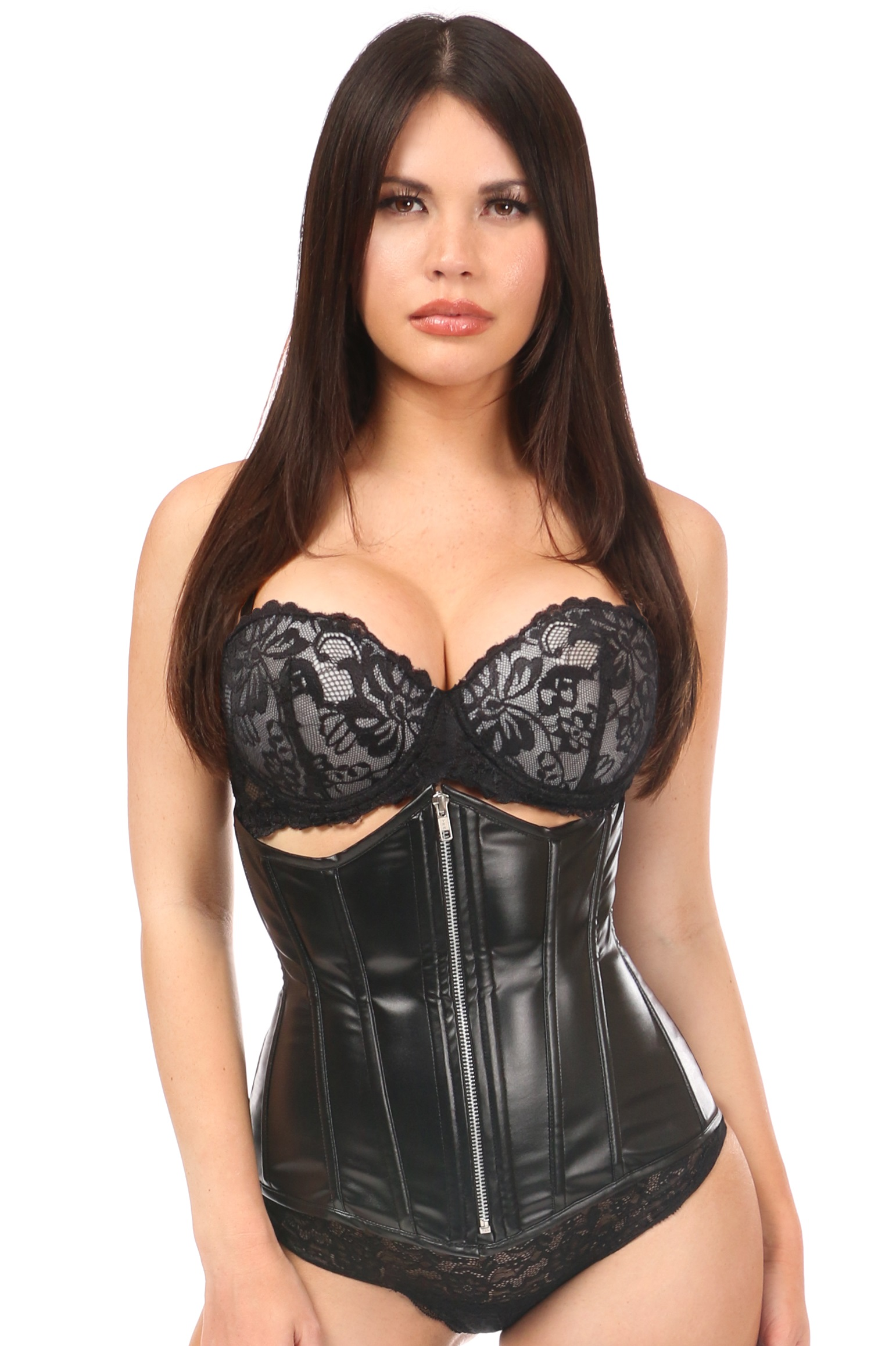 Lavish Wet Look Under Bust Corset DASLV-572