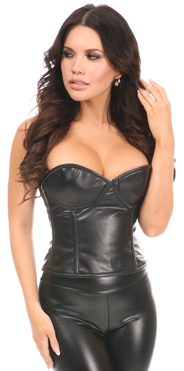 Lavish Faux Leather Underwire Bustier DASLV-684