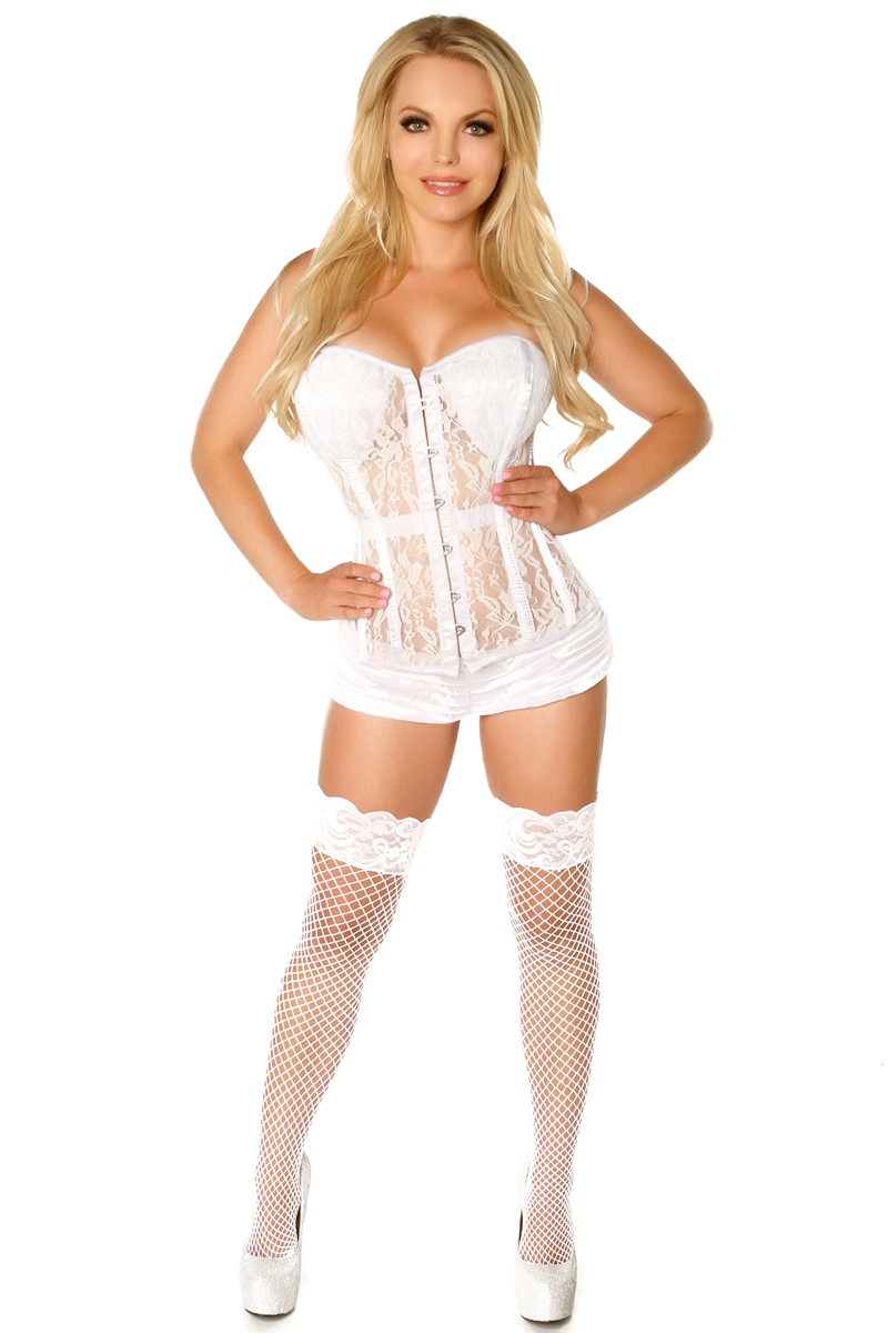Top Drawer Ivory Lace Molded Cup Corset DASTD-457