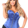 Top Drawer Fishnet & Faux Leather Steel Boned Underbust Corset DASTD-350