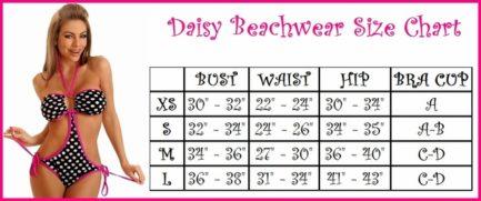 Daisy Corsets Crocheted Monokini- White- Large DBW-74-L