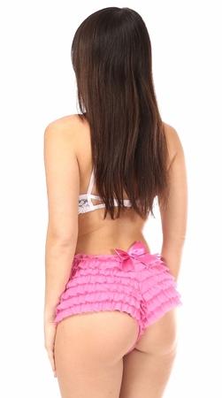 Daisy Ruffled Satin Bow Panty- Pink- Small SATINBOWPNK-S