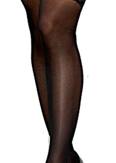 Escante Silicone Lace Top Thigh Highs- Black- One Size