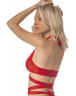 Escante Fusions Tri-Top Halter- Red- One Size