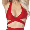 Escante Fusions Tri-Top Halter- Red- One Size 1166-PINK