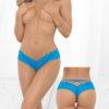 Escante Open Crotch Cage Panty- Ocean Blue- One Size