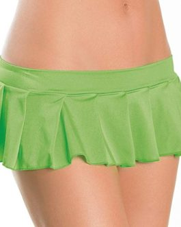 Escante Fusions Pleated Skirt- Neon Green- One Size