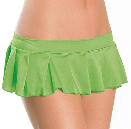 Escante Fusions Pleated Skirt- Neon Green- One Size 1169-NGREEN