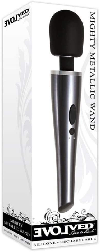 Evolved Mighty Metallic Wand- Silicone and Rechargeable EN-RS-3176-2