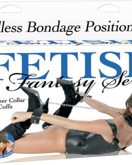 Fetish Fantasy Series Leather Collar & Cuffs