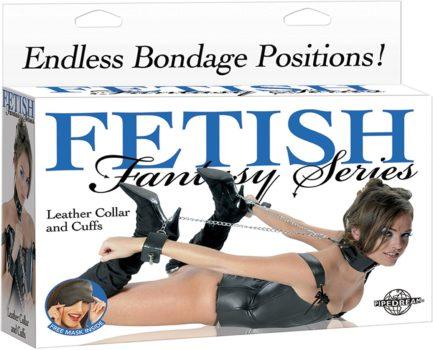 Fetish Fantasy Series Leather Collar & Cuffs PD3886-00