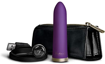 Frederick's of Hollywood USB Rechargeable 20 Function Bullet Vibrator- Purple FOH-003PUR