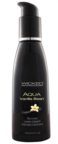 Aqua Vanilla Bean Water-Based Lubricant - 4 Oz. HPPWS-90334