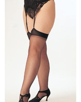 H.O.T. Sheer Thigh Highs- PURPLE- Queen Size