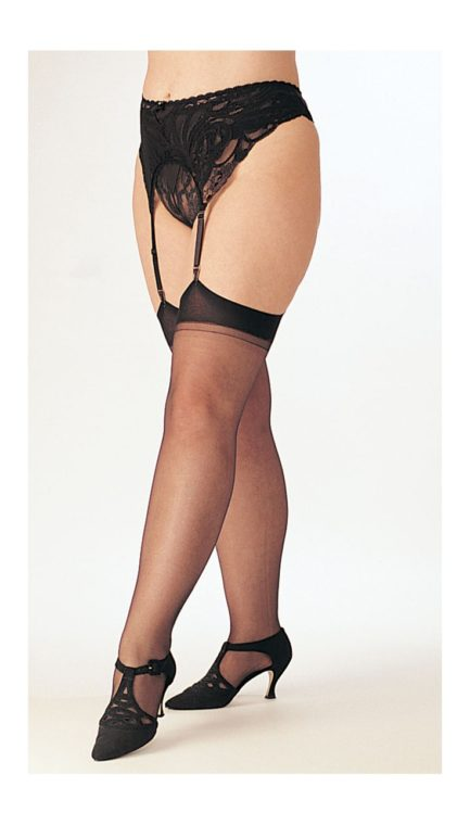 Intimate Attitudes Sheer Thigh High Stocking- Baby Pink- Queen OS IA-X5075-BPNK