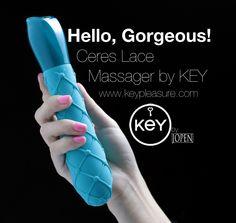 Jopen Key Hello Gorgeous Massager- TEAL (Purple shown for illustration purposes)
