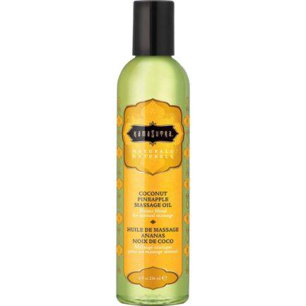Kama Sutra Naturals Sensual Massage Oil- Coconut Pineapple- 8oz. KS10219