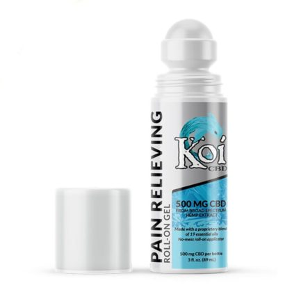 Koi Broad Spectrum CBD Pain Relieving Roll-On- 500 mg- 3 oz. KOI-ROLL-ON