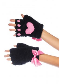 Leg Avenue Adult Cat Paw Finger Gloves-One Size LA-2170BLK