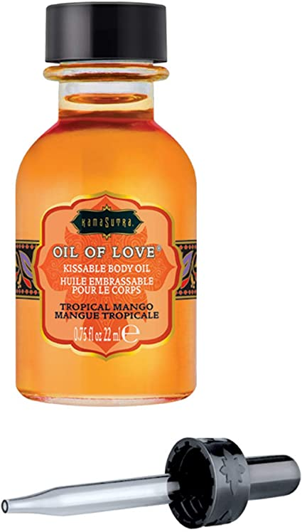 Kama Sutra Oil Of Love Kissable Body Oil- Tropical Mango .75 KS12005
