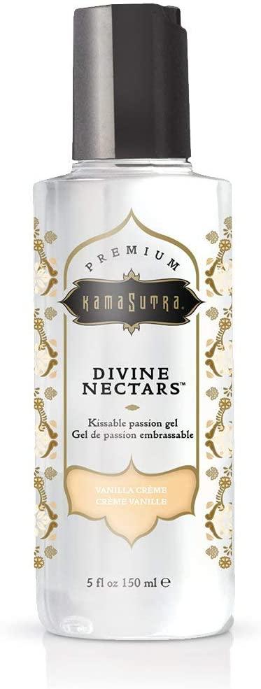 Kama Sutra Devine Nectars- Premium Kissable Passion Gel- Vanilla Creme- 5 oz. KS12036