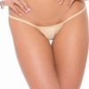KOY By Bodyshotz Low Back Tee Thong- Tan- O/S BS100-RED