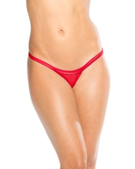 KOY By Bodyshotz Wide Strap T-Back Thong- Red- O/S