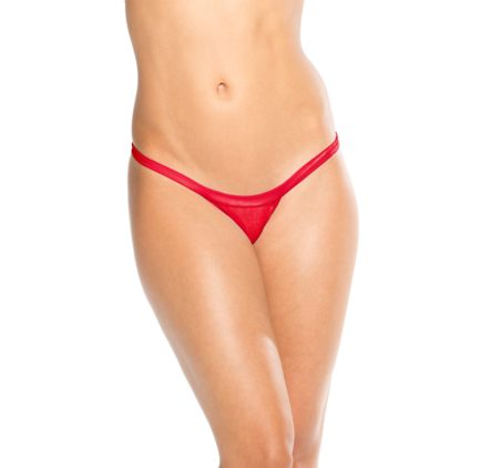 KOY By Bodyshotz Wide Strap T-Back Thong- Red- O/S BS103-RED