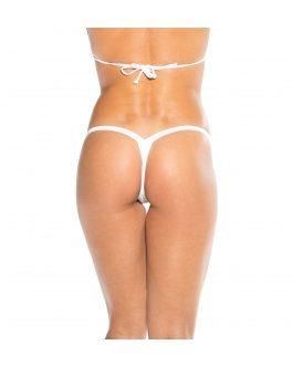 KOY By Bodyshotz Wide Strap T Back Thong- White- O/S