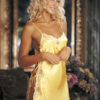 Shirley Of Hollywood Charmeuse & Lace Chemise- Buttercup Yellow- Medium SOH-31399-RED/BLK-XL