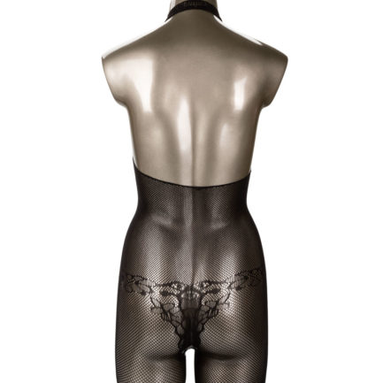 Scandal Halter Lace Body Suit- Black- One Size SE-2712-96-3