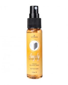 Sensuva Deeply Love You Throat Relaxing Spray- Butter Rum- 1 oz.