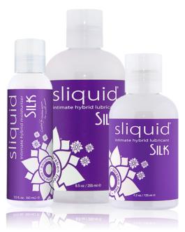 Sliquid Naturals Silk Hybrid Intimate Lubricant- Vegan- 4.2 oz.