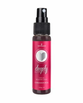Sensuva Deeply Love You Throat Relaxing Spray- Cinnamon Roll- 1 oz.