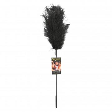 Sportsheets Ostrich Feather Tickler- Black SS700-01